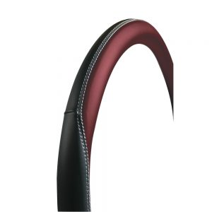 Калъф за волан 37-39 черен/червен