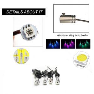 Интериорна LED цветна светлина, амбиентно осветление за кола