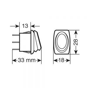 """Бутон """"micro"""" превключвател LED 12/24V"""