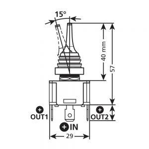 Switch бутон (2 поз.) – 12/24V – 20A