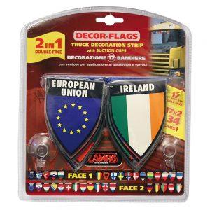 Двулицеви флагчета – 17 броя