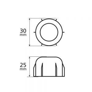 Декоративни капачки за гайки – 60 бр.