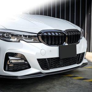 Бъбреци с двойни ребра тип M3 черен лак за BMW серия 3 G20, G21 след 2019 година