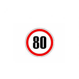 СТИКЕР 80 KM/H