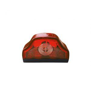 Червен плафон за номер с крушка