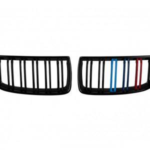Бъбреци с двойни ребра черен лак с M декорация за BMW серия 3 E90, E91 2005-2007