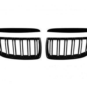 Бъбреци с двойни ребра черен лак за BMW серия 3 E90, E91 2005-2008