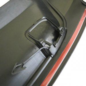 Добавка GTi за задна броня за VW Golf VI 2009-2013 с 1 отвор