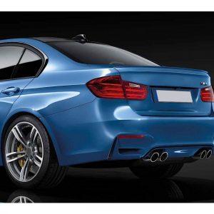 Задна M3 броня за BMW серия 3 F30 2011-2019 с PDC, двоен дифузьор с двоен накрайник