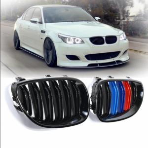 Бъбреци с двойни ребра черен лак с M декорация за BMW серия 5 E60, E61 2004-2009